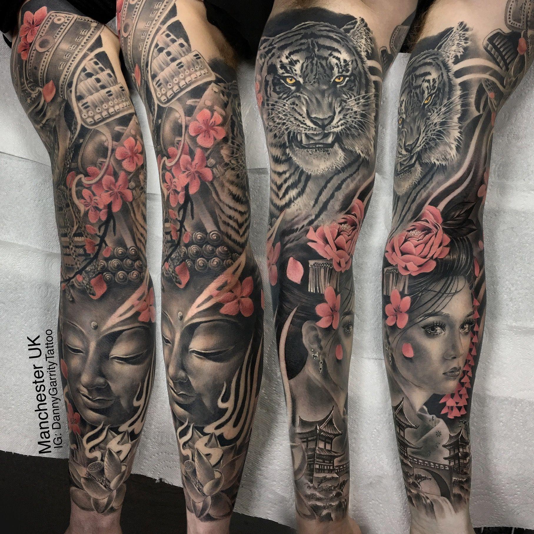 Japanese Realistic Sleeve Sleeve Tattoos Tiger Tattoo Sleeve Tattoo Sleeve Designs