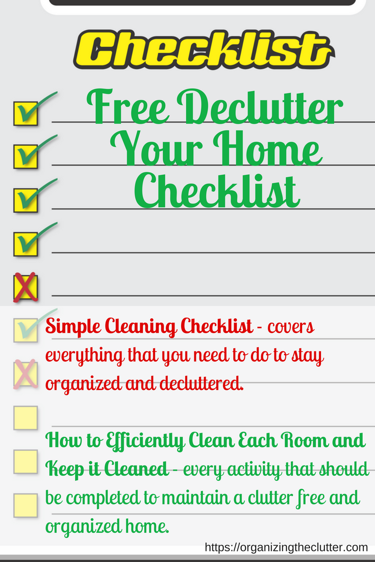 daily weekly monthly cleaning checklist