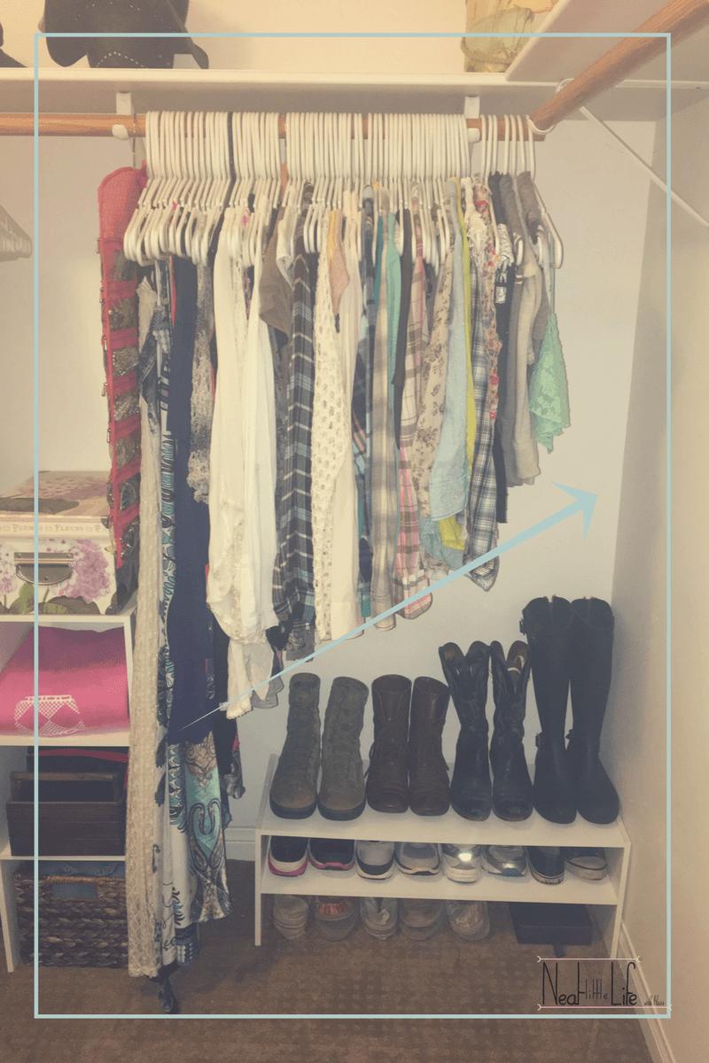 How to Save Time Keeping Up a KonMari Closet  Clothes closet
