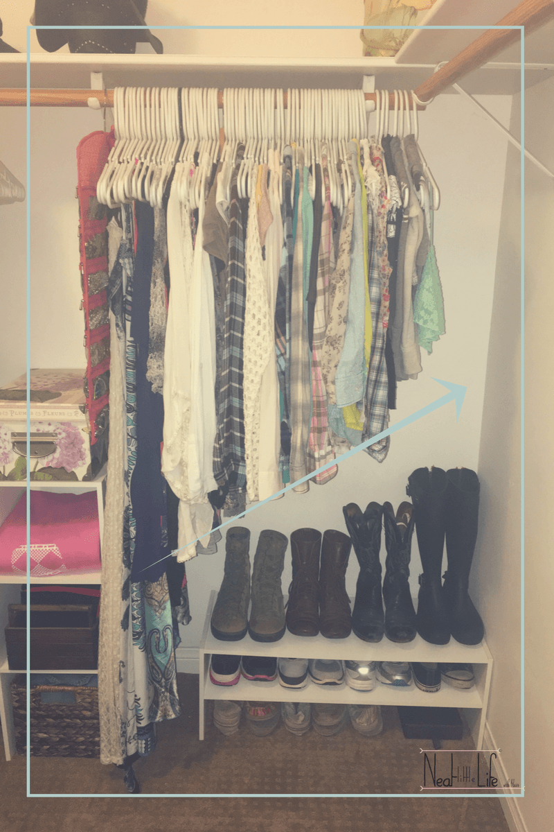 Hanging Wardrobe Organiser Closet Organization