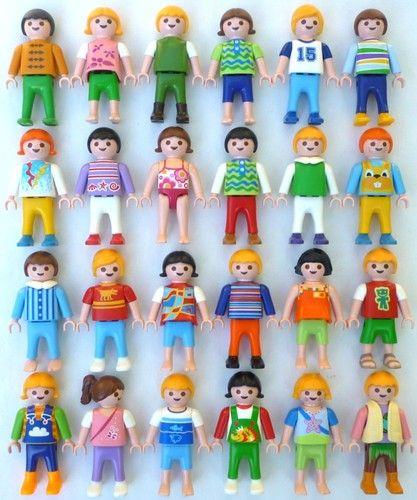 Children Different 24 Boys Playmobil Girls Child Kids Figures Ybfgy67