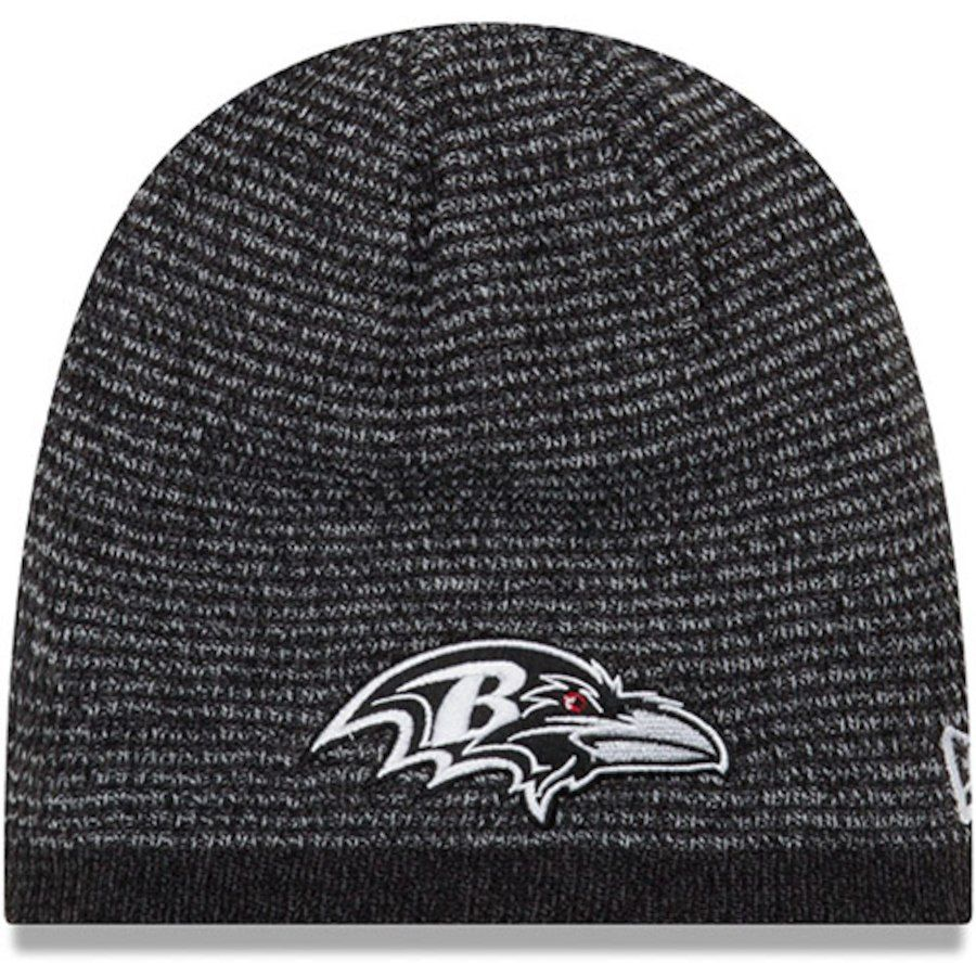 Men s Baltimore Ravens New Era Black Reversible Basic Team Knit Beanie 11162fc3e