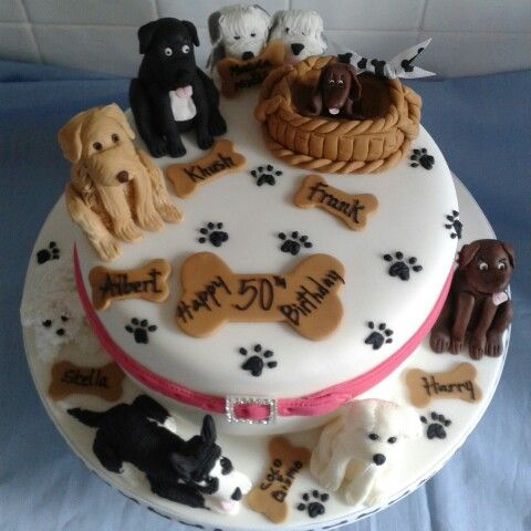Magnificent Dog Walkers Cake By Pat Moore With Images Dog Birthday Cake Personalised Birthday Cards Veneteletsinfo