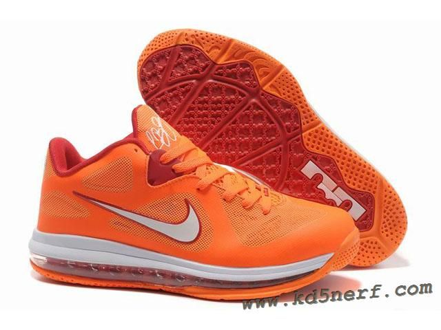 size 40 62acd d8231 Nike Air Max Lebron 9 Low Shoes Orange Red