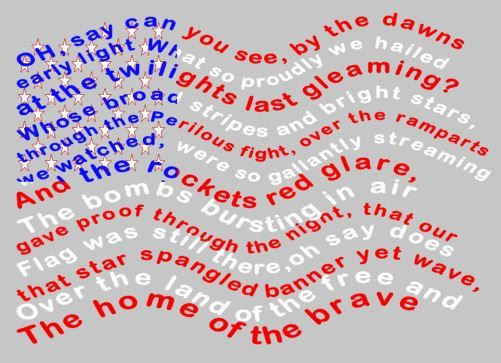 National Anthem Svg File Only Personal Use By Crazymomscreations2