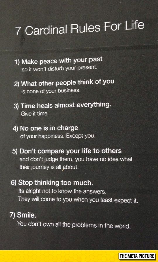 60 Important Rules Of Life Bobagens Pinterest Quotes Sayings Inspiration 7 Rules Of Life Quote