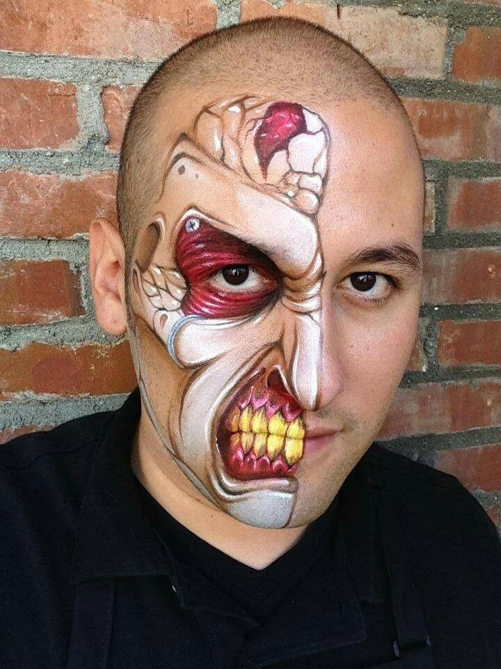 Épinglé par нина sur хэллоуин (avec images) | Peinture sur corps, Maquillage