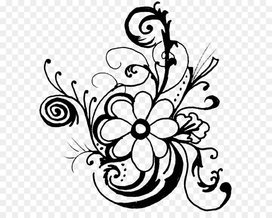 Black And White Hand Drawn Flowers Line Drawing Flower Clipart Black And White Line Drawing Flowers Png Transparent Clipart Image And Psd File For Free Downl Flower Drawing Flower Line Drawings