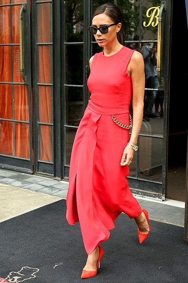 Victoria beckham red maxi dress