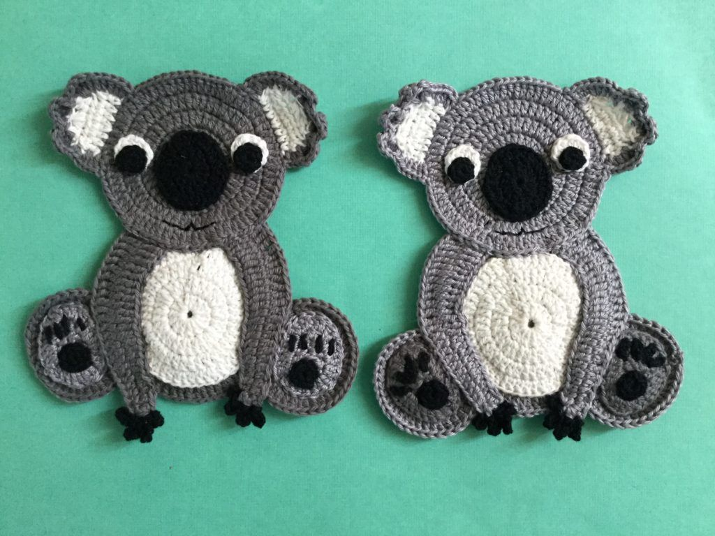 Get this free crochet pattern of a crochet koala. #crochetapplicates