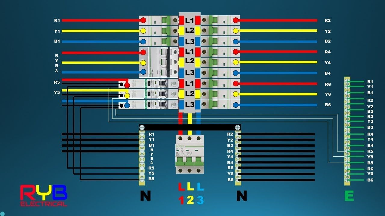 3 Phase Distribution Board Wiring Diagram Distribution Board Electrical Panel House Wiring