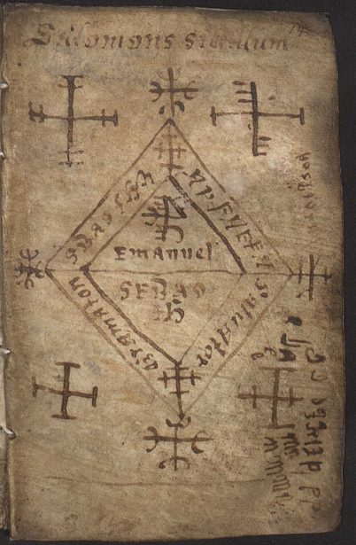 'Galdrakver': Lbs 143 8vo (1670).  This seventeenth-century Icelandic parchment manuscript has been called Galdrakver, which can be translated as 'little book (or booklet) of magic'.