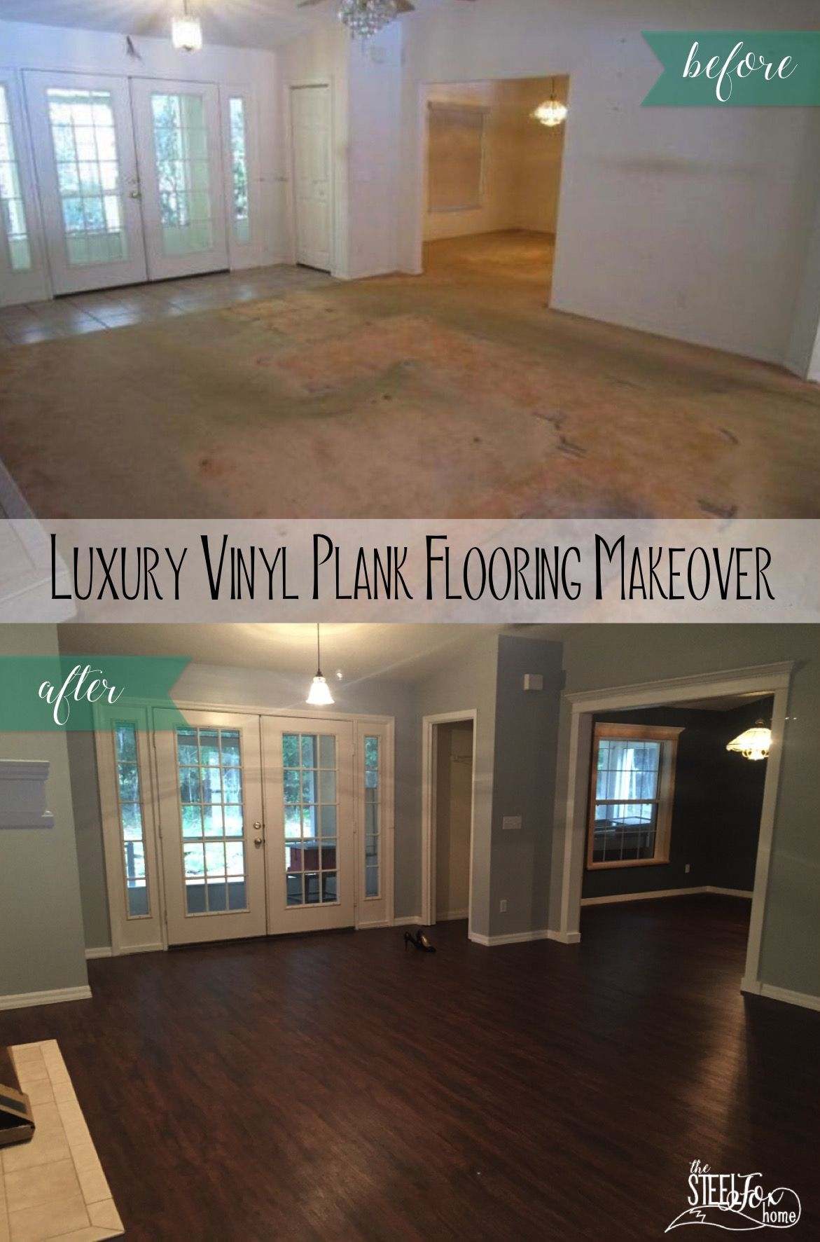 Luxury Vinyl Plank Wood Flooring Whole House Makeover Why We Choose Vinyl Pros And Cons And Our H Luxury Vinyl Plank Luxury Vinyl Plank Flooring Vinyl Plank
