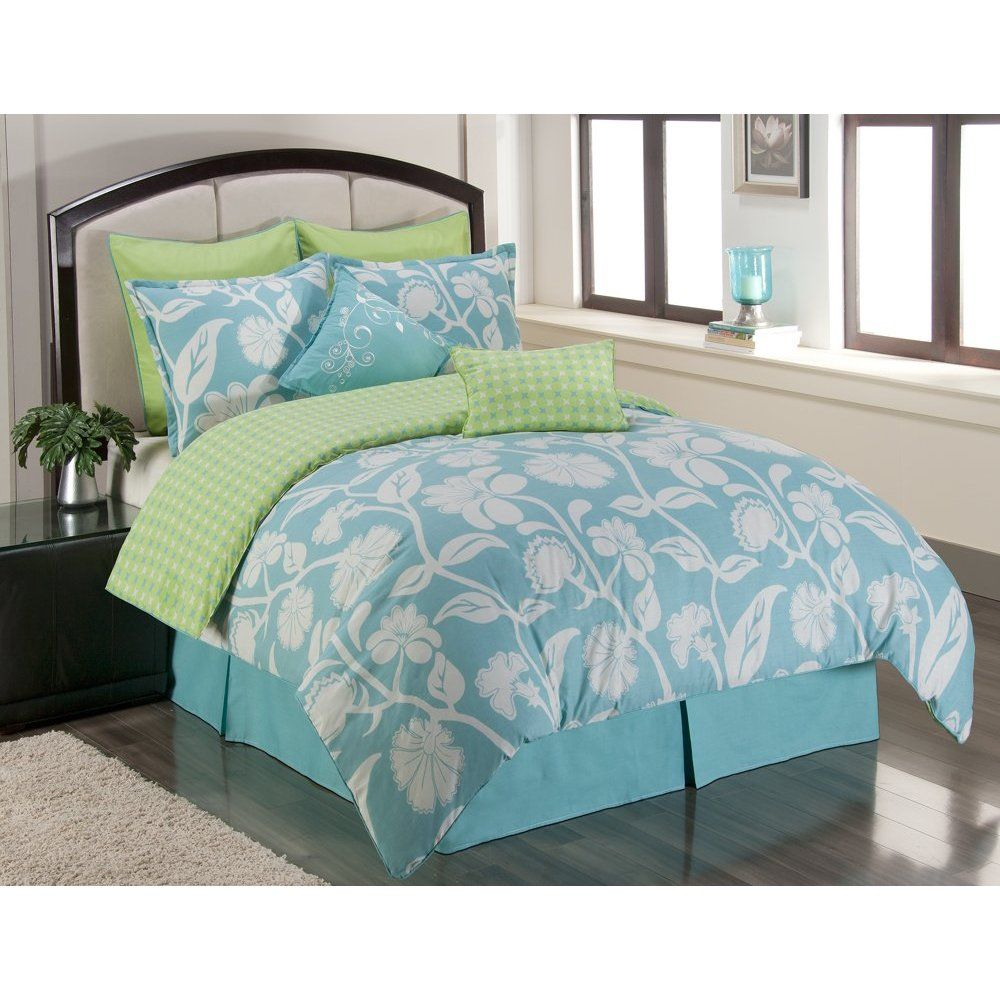 Image Detail For This Blue And Green Comforter Would Look