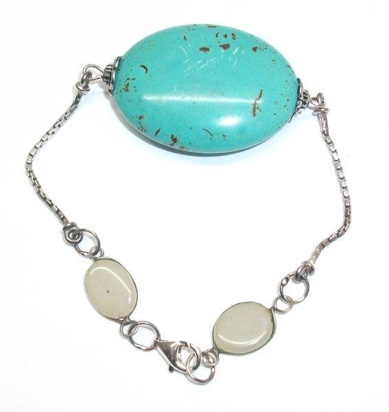 Antikes Armband mit grün-braun malachit farben 340 von Atelier Regina auf DaWanda.com