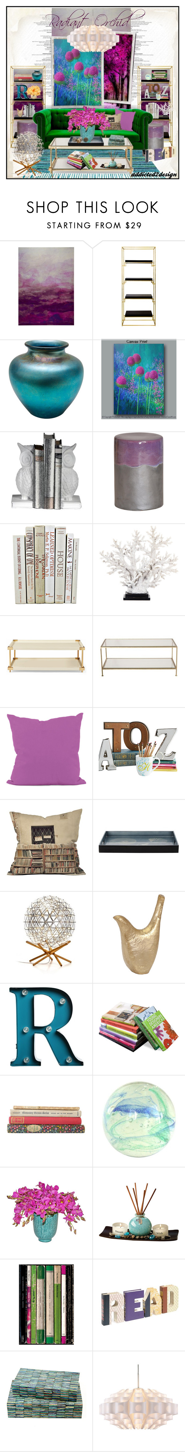 """""""..Book Worm.."""" by addicted2design ❤ liked on Polyvore featuring interior, interiors, interior design, home, home decor, interior decorating, Worlds Away, Steuben, Emissary and e by design"""