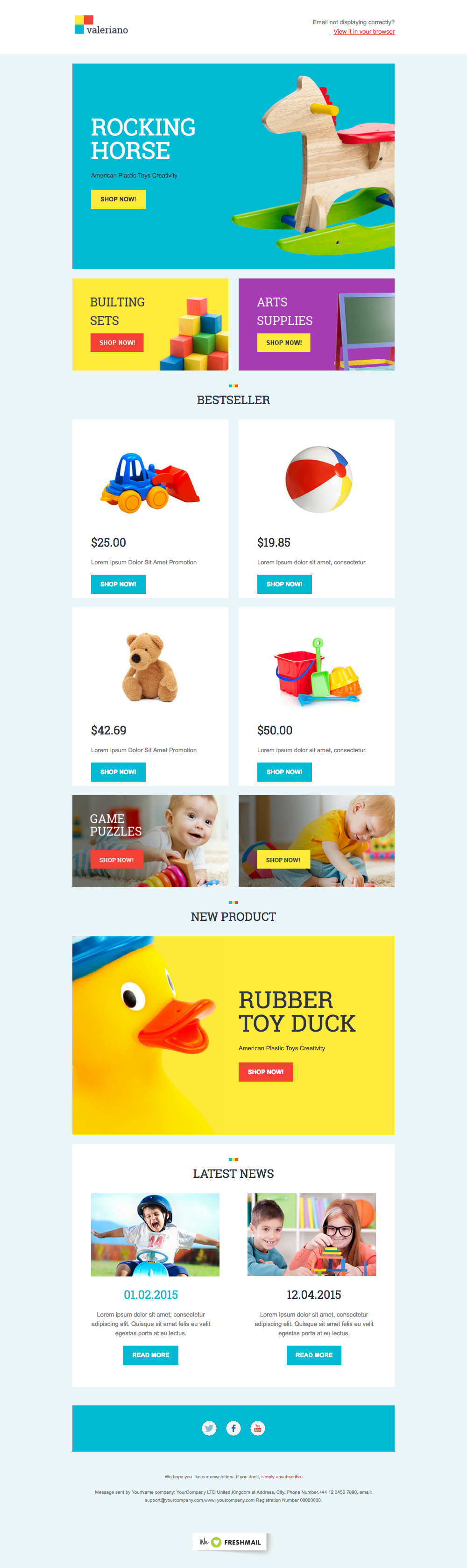 Kids  Children Newsletter Template Design Ideas  Examples For