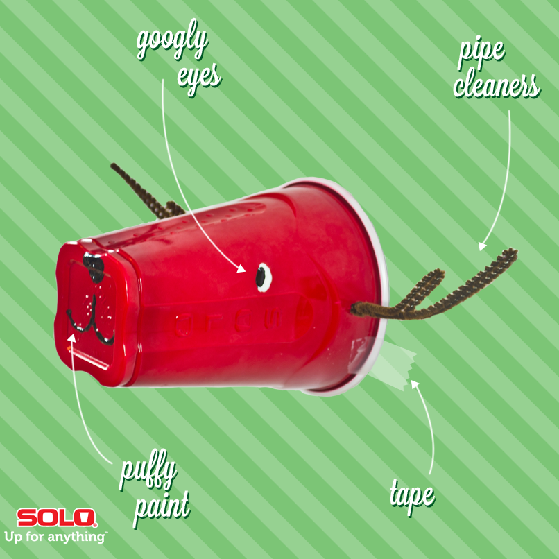 Here's how to make your very own Rudolph the Red-Nosed SOLO cup and ...