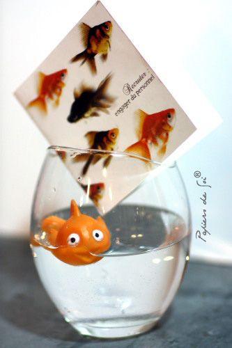 Faire-part pour des amoureux heureux comme des poissons dans l'eau !