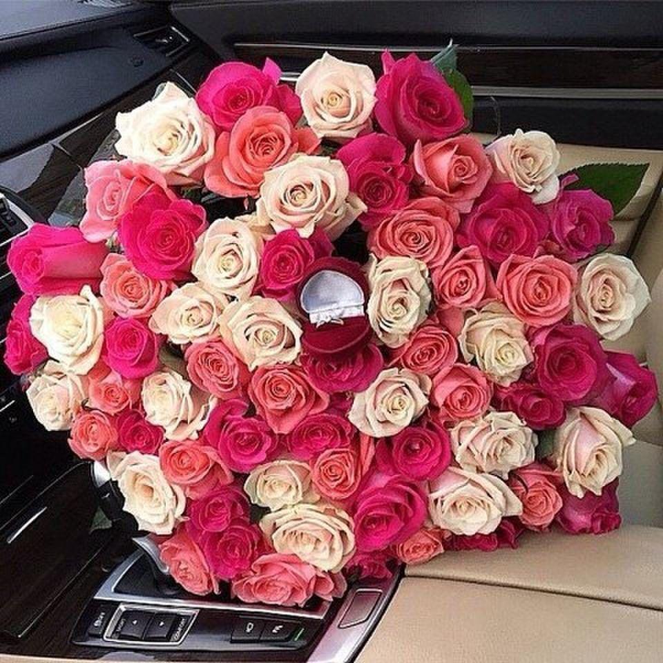 Фото букет цветов и кольцо, база цветов