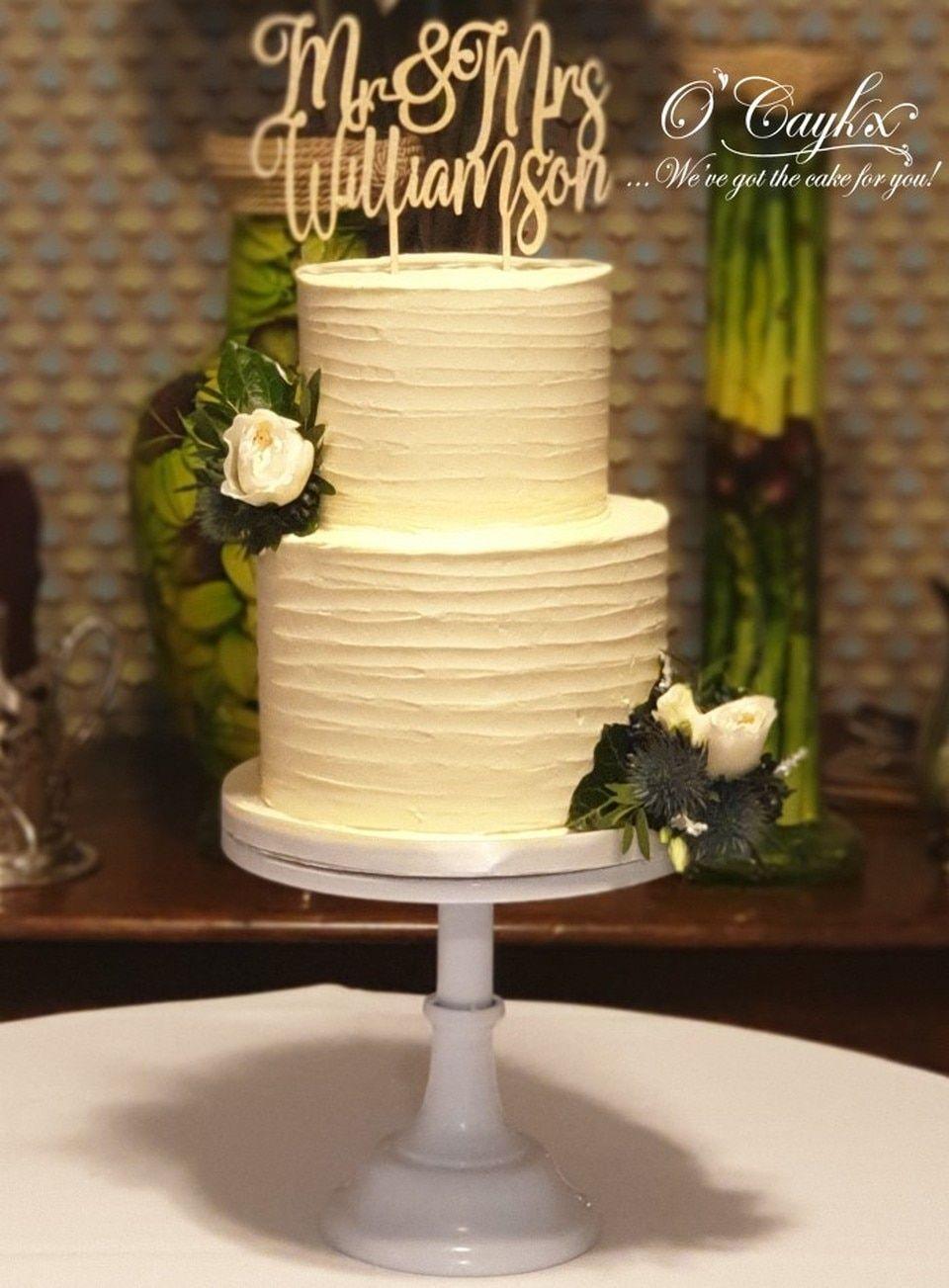 2 Tier Rustic Buttercream Wedding Cake WC00199 in 2020