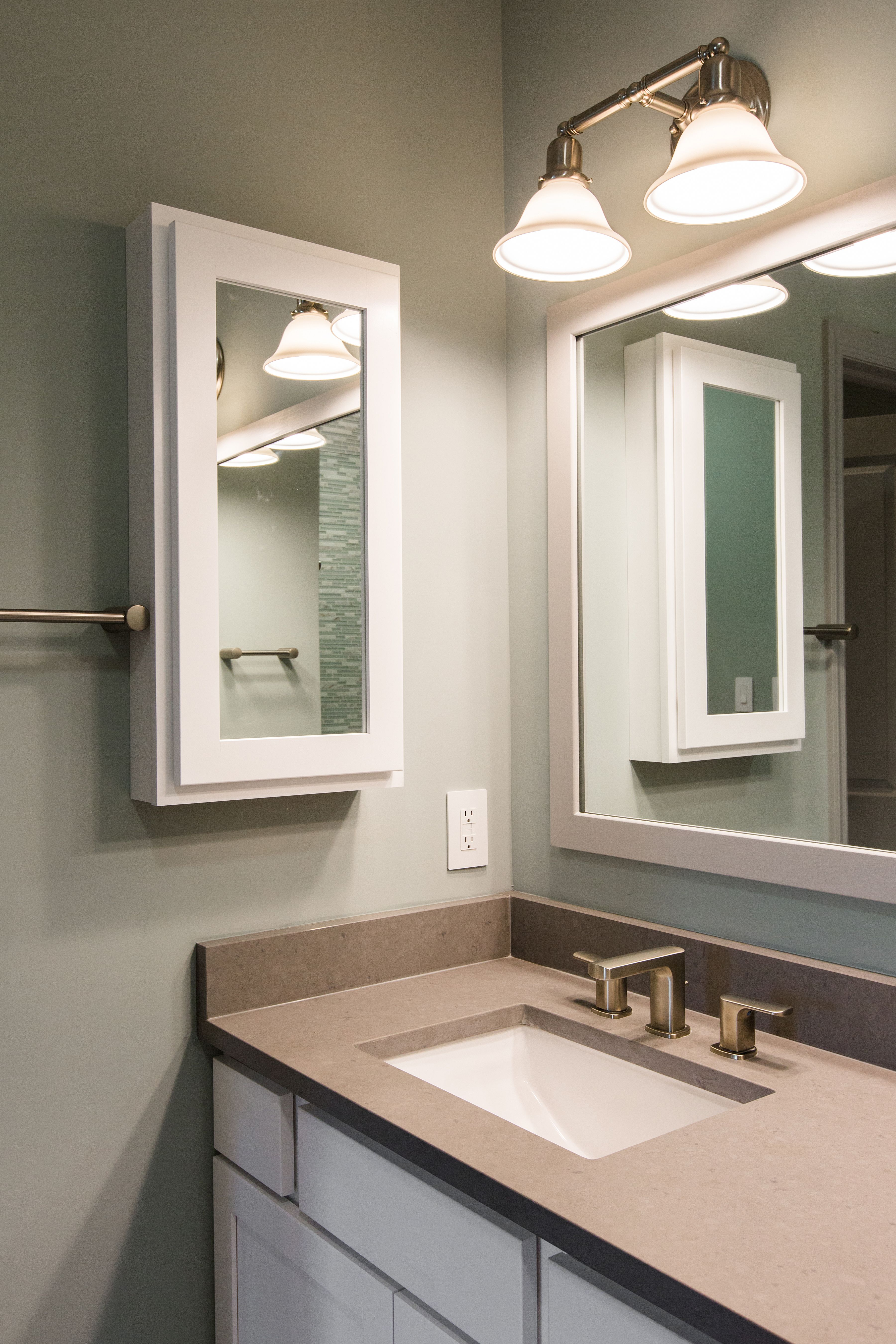 A Surface Mount Medicine Cabinet Can Help Solve The Need For Additional Storage Surface Mount Medicine Cabinet Lighted Bathroom Mirror Bathroom Lighting