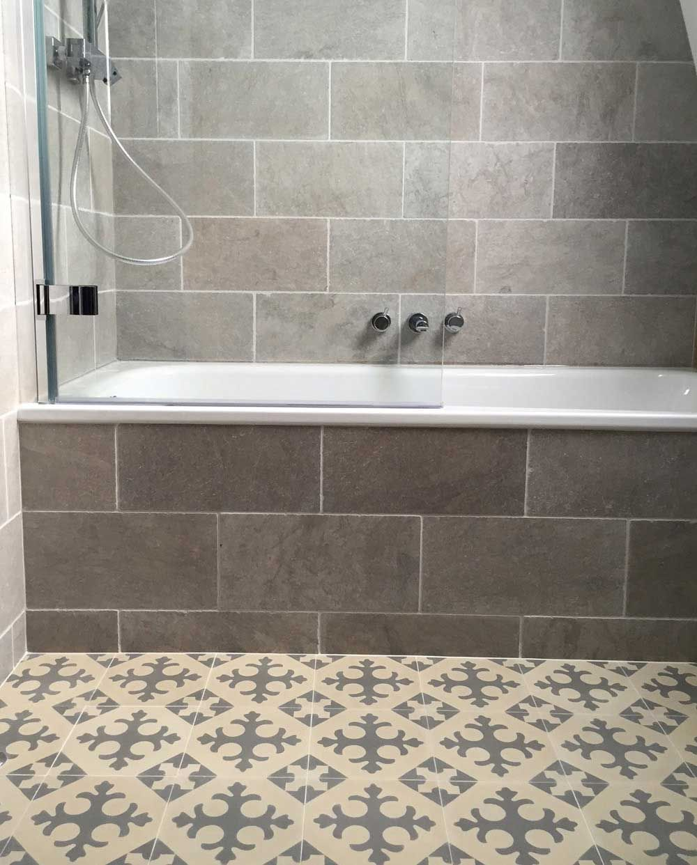 Fontaine grey limestone tiles wall tiles natural stones and cement bathroom featuring fontaine grey natural stone tumbled wall tiles 400 x 200 x 12 mm with dailygadgetfo Images