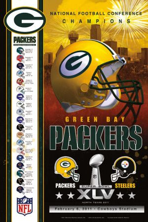 Nfc Champs 2011 Packers Posters Allposters Com Football Poster Packers Nfc
