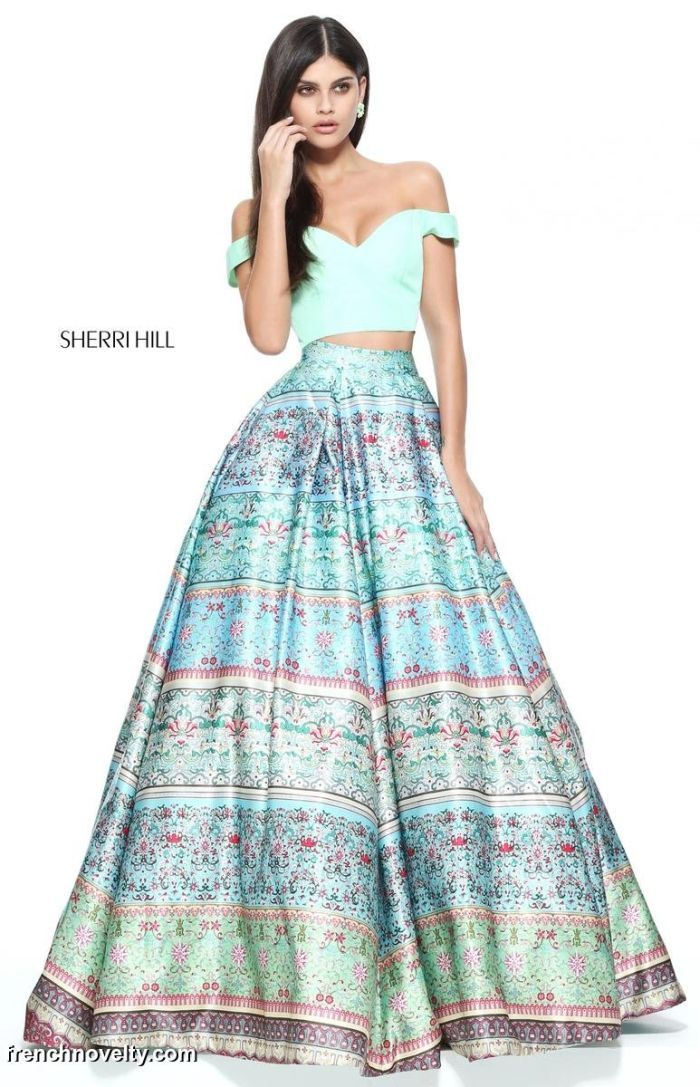 Sherri Hill 51204 Off the Shoulder 2pc Prom Dress | Sherri Hill ...