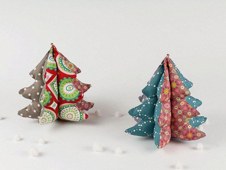diy anleitung patchwork deko weihnachtsbaum n hen via. Black Bedroom Furniture Sets. Home Design Ideas