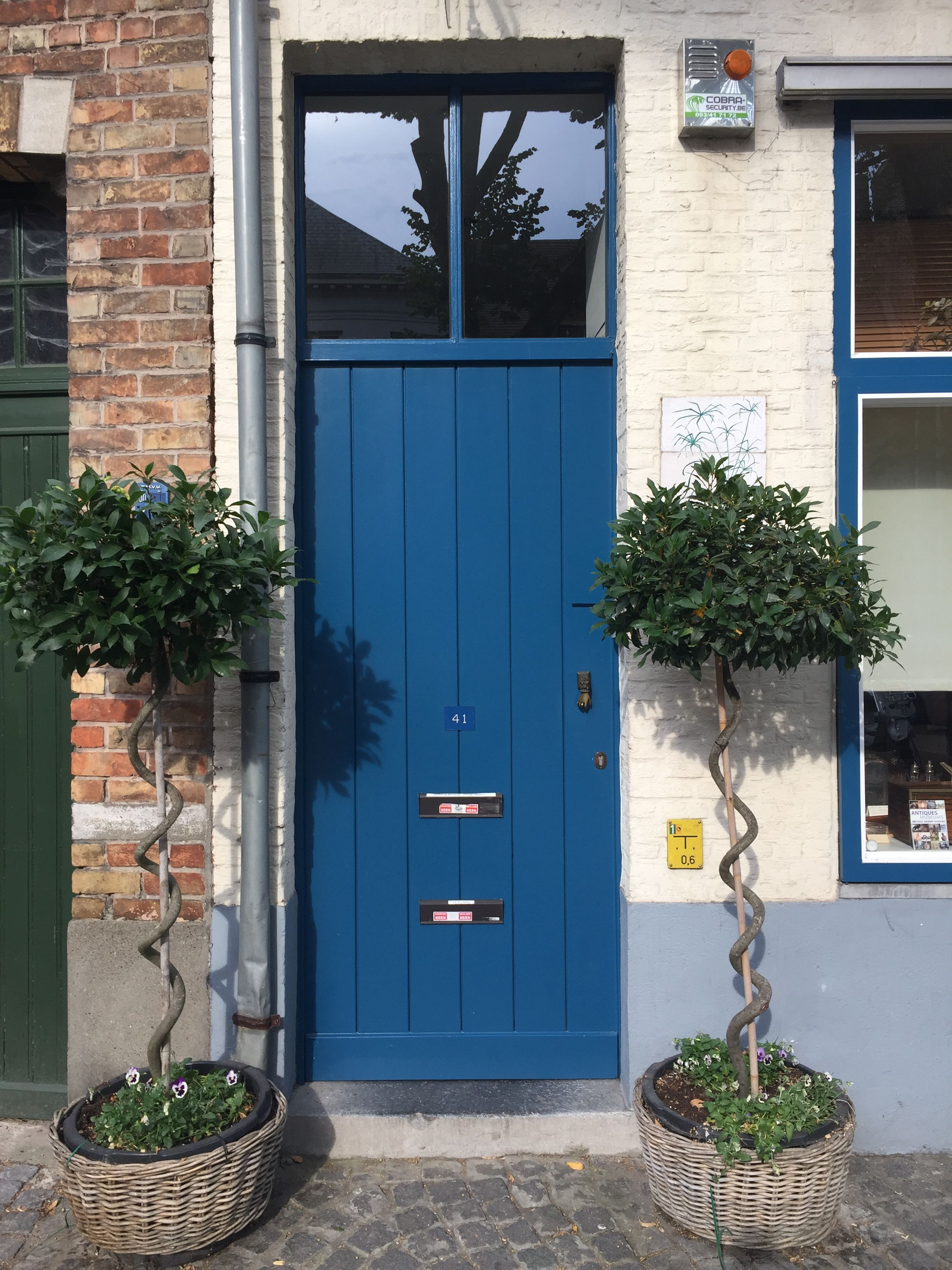 Blue Door In Brugge 27 07 2018 Blue Door Doors Outdoor Decor