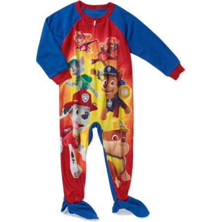 9e9d1d58e Paw Patrol Toddler Boy Micro Fleece Footed PJ