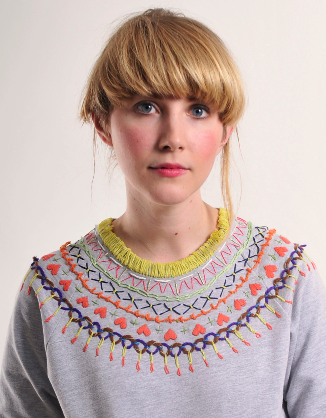 #upcycle an old jump with pretty #HandEmbroidery #diy #fashion