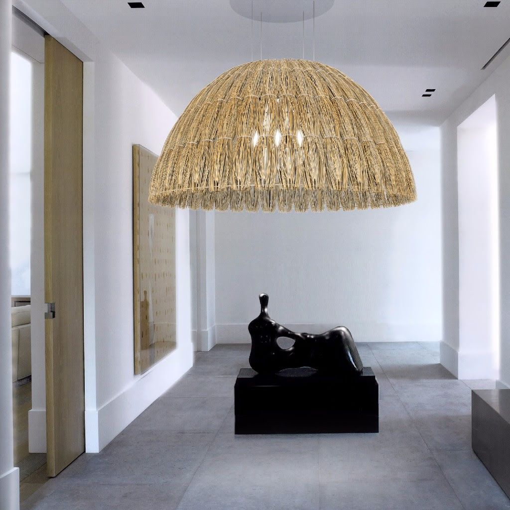 Thatch Vert A Classic Dome Dressed In Thatch Man S Oldest Form Of Overhead Protection From The Lighting Design Interior Architectural Lighting Design Interior