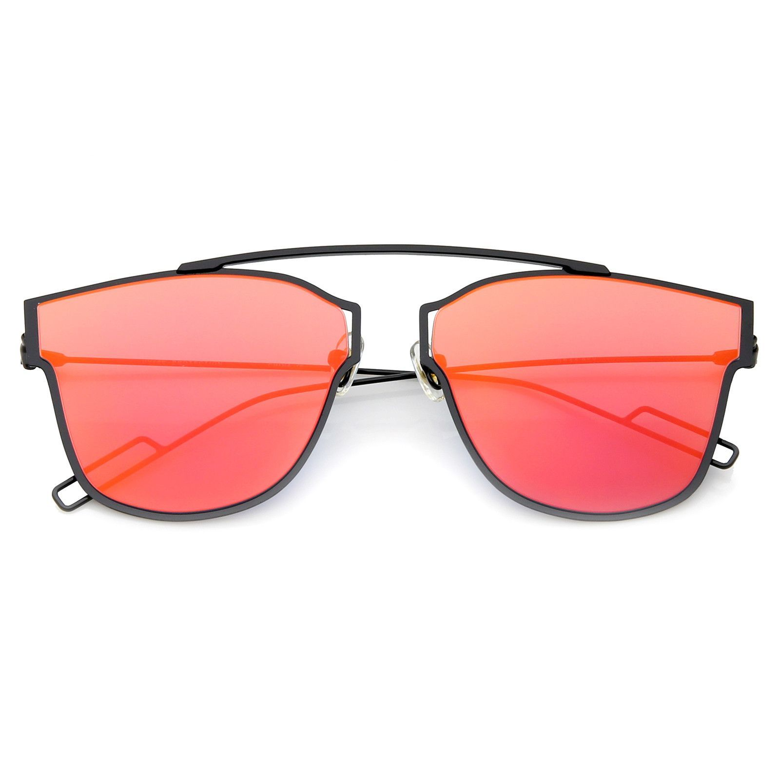 e8995a9d38 Modern Flash Mirror Lens Ultra Thin Open Metal Minimal Pantos Aviator  Sunglasses 59mm  mirrored  frame  cateye  sunglassla  oversized  purple   sunglasses ...