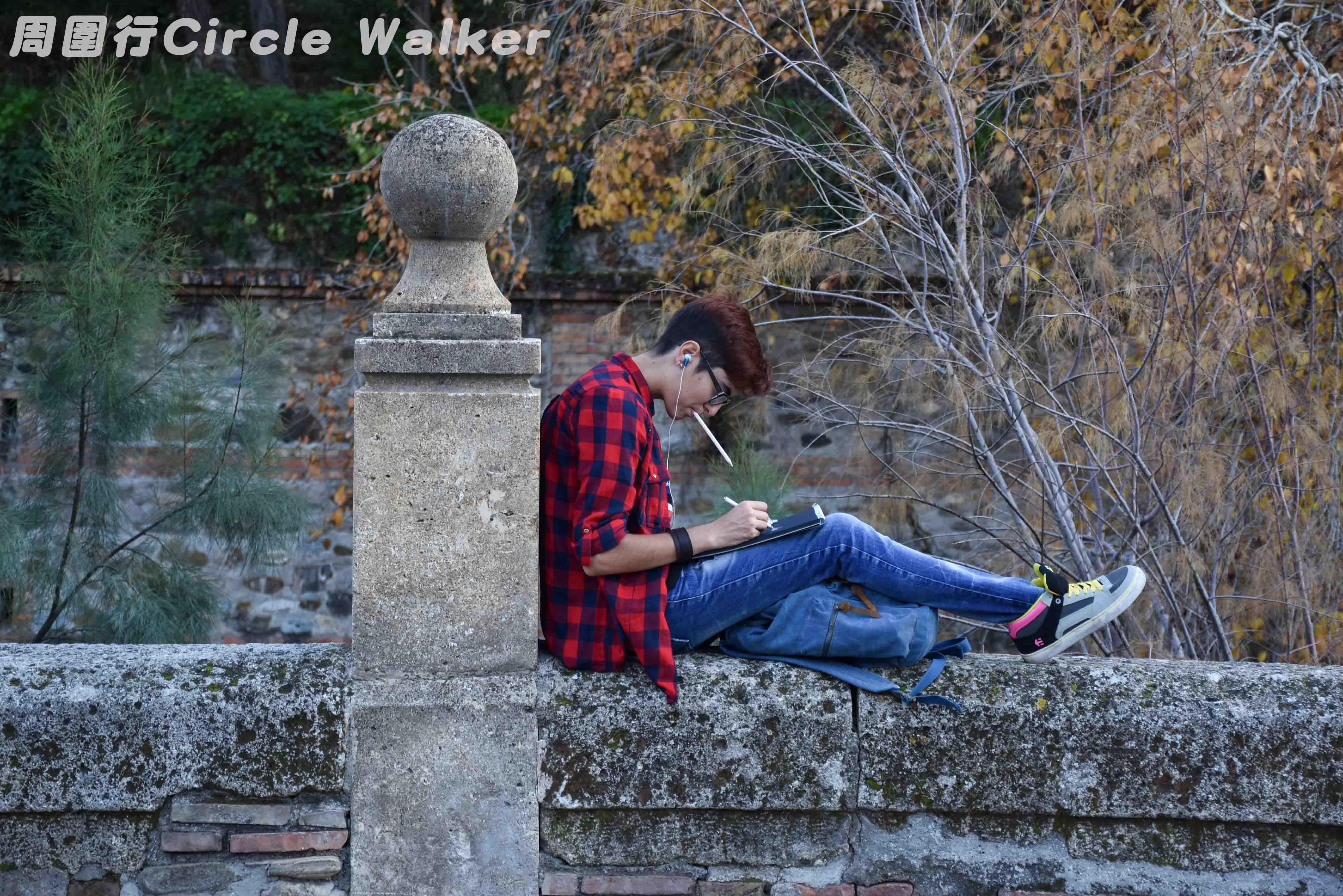 """Human who READ讀書人""  Alhambra, Granada, Spain 西班牙,格拉納達, 阿爾罕布拉宮 . More on: https://www.circlewalker.me/human-who-read . #Alhambra #Granada #Spain #西班牙 #格拉納達 #阿爾罕布拉宮 #人 #people #human #photo #foto #photography #攝影 #art #藝術 #CS6 #photoshop #camera #nikon #figure #book #read #讀 #書 #reader #author #alone #eu #europe #歐洲"
