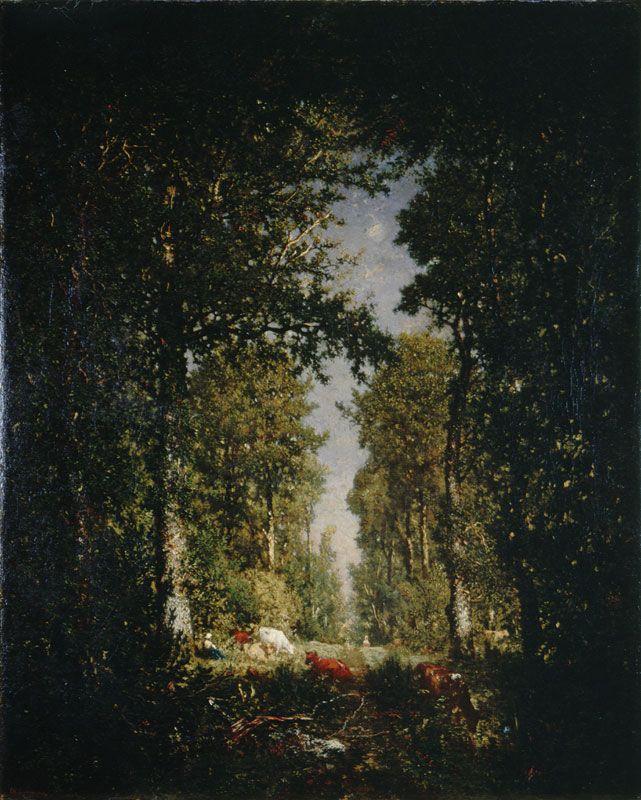 Rousseau, Une avenue, foret de l'isle adam