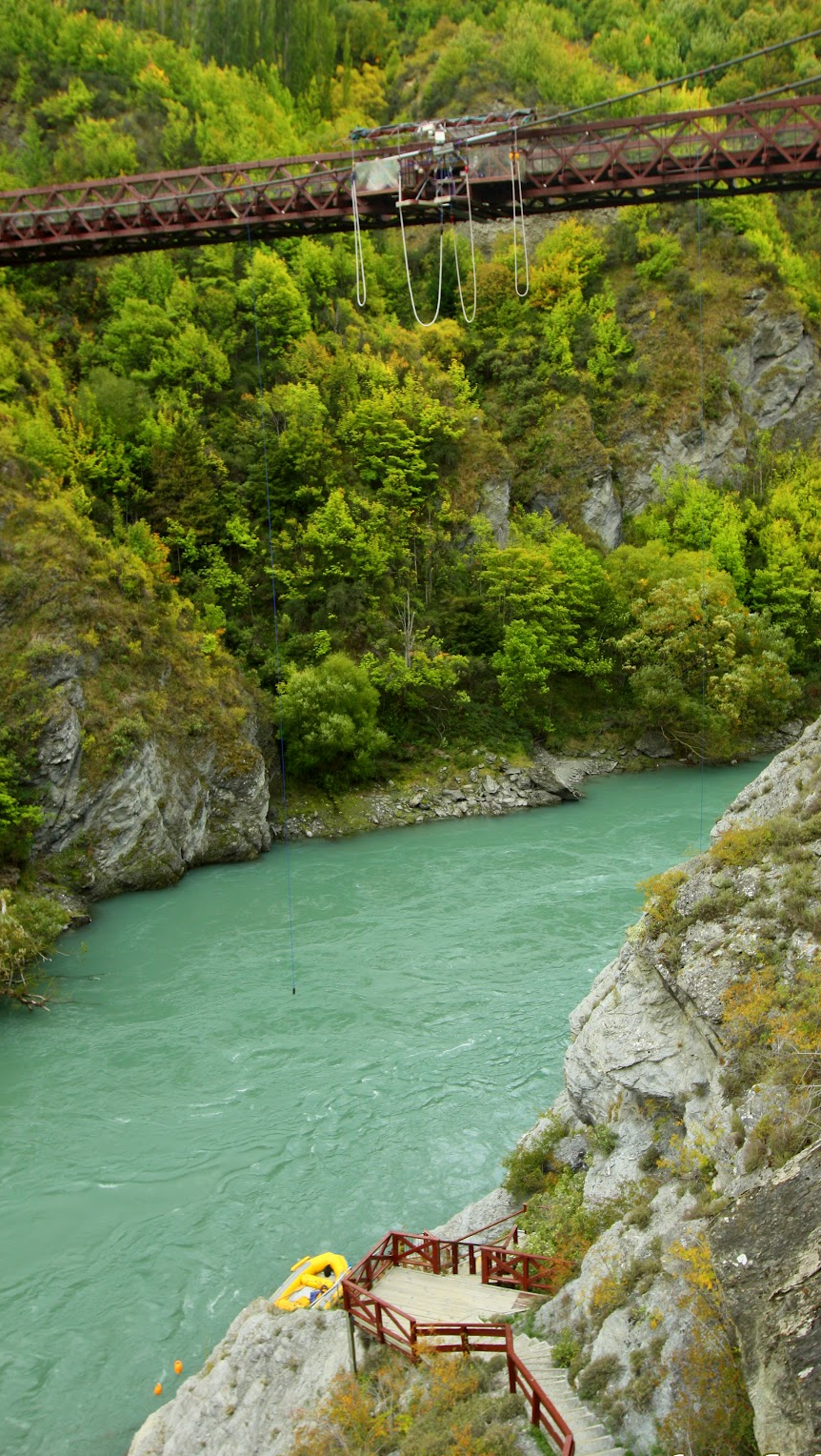 The Kawarau Bridge Bungy (bungee) is the World Home of Bungy Jumping. IT ALL BEGAN IN NOVEMBER 1988, WHEN TWO GREAT MATES HAD A CRAZY IDEA TO THROW THEMSELVES OFF THE KAWARAU BRIDGE, (QUEENSTOWN, NZ) ATTACHED ONLY BY A BUNGY CORD. OVER 25 YEARS LATER, AJ HACKETT BUNGY NZ IS STILL DELIVERING ADRENALIN FUELLED EXPERIENCES, WITH SIX PRODUCTS IN QUEENSTOWN, SUCH AS THE NEVIS BUNGY, NEVIS SWING, LEDGE BUNGY, LEDGE SWING, AND THE ALL NEW KAWARAU ZIPRIDE.