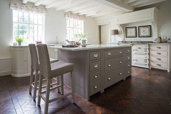 Best Chichester Kitchen With Kitchen Island Painted In Grey Oak 640 x 480