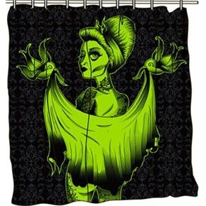 Dead Girl Zombie Pinup Shower Curtain This Is My Actual Shower