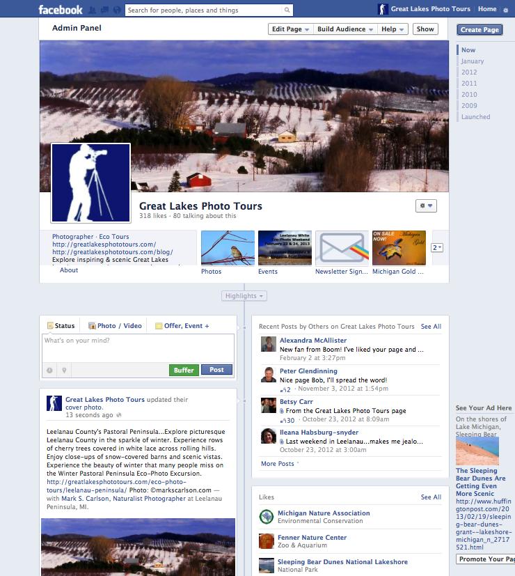 Facebook screen shot Februrary 2013