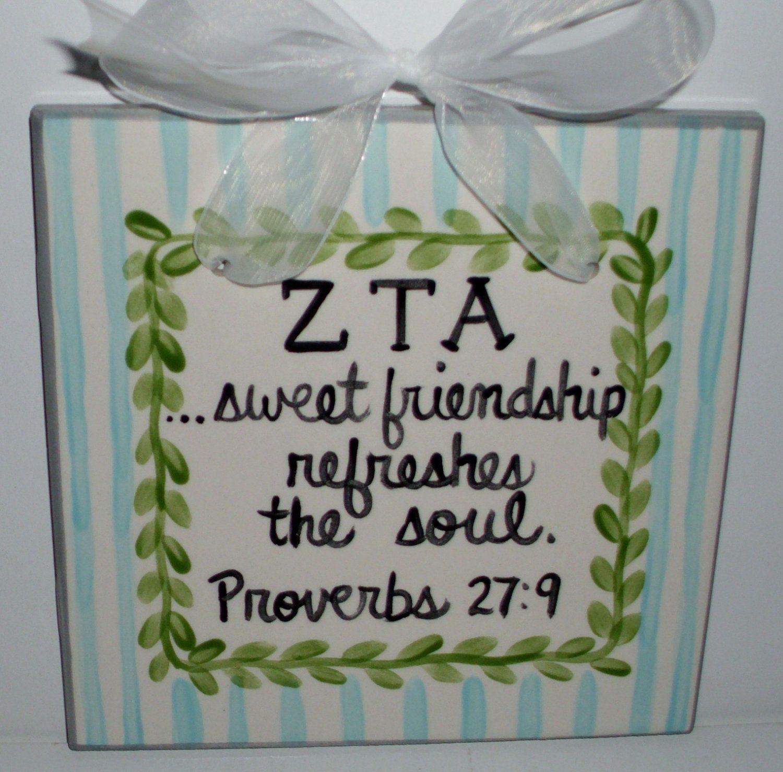 Zeta Tau Alpha  Friendship Tile