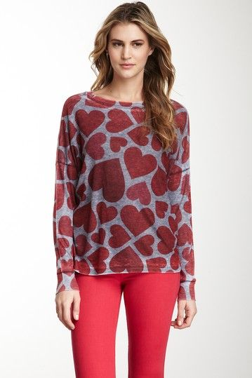 Go Couture, Playful Hearts Dolman Thermal Top