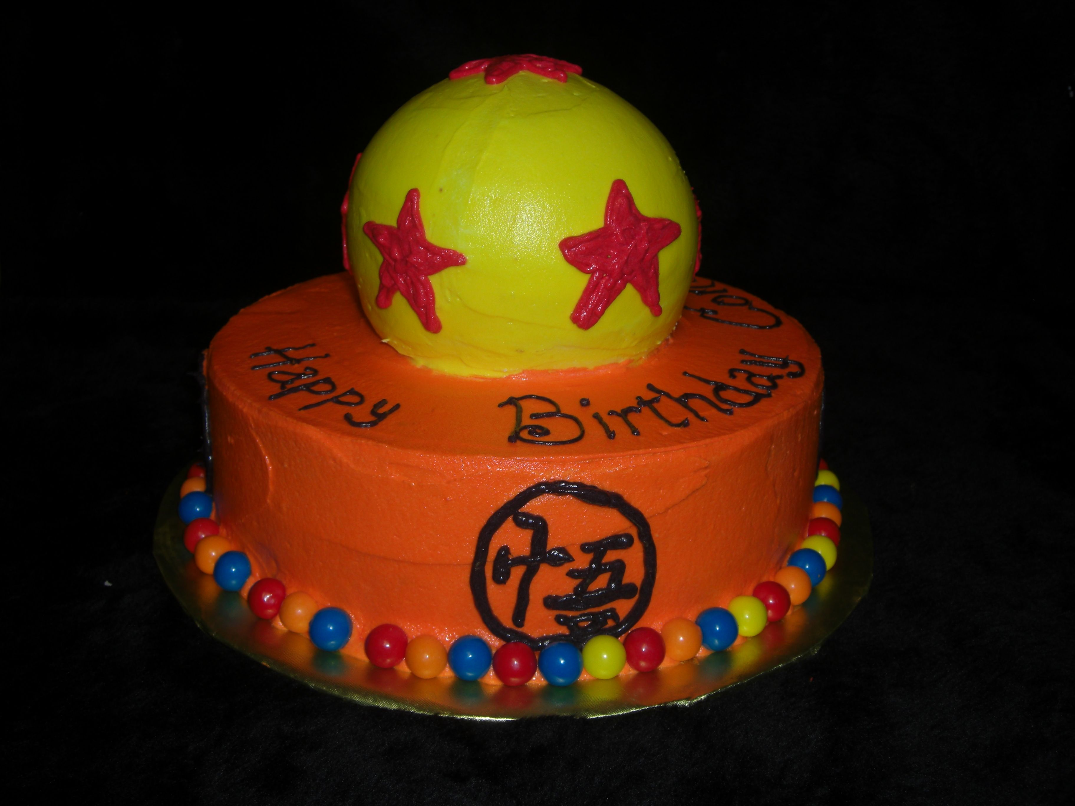 Dragon Ball Z Cake For The Groom Cake Either That Or Naruto Birthday Cake Kids Cartoon Cake Themed Cakes