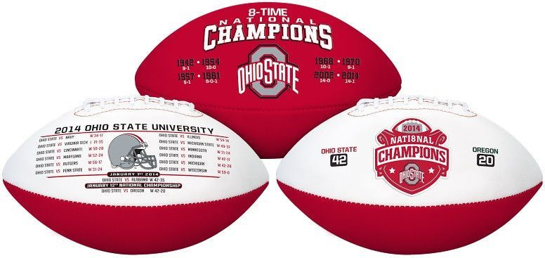 Ohio State Buckeyes 8 Time Champ Football