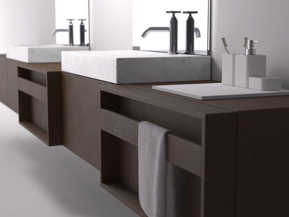 Mueble de lavabo doble   suspendido   de madera   moderno PLUS by Javier  López AGAPE 1f3ac288d6c9