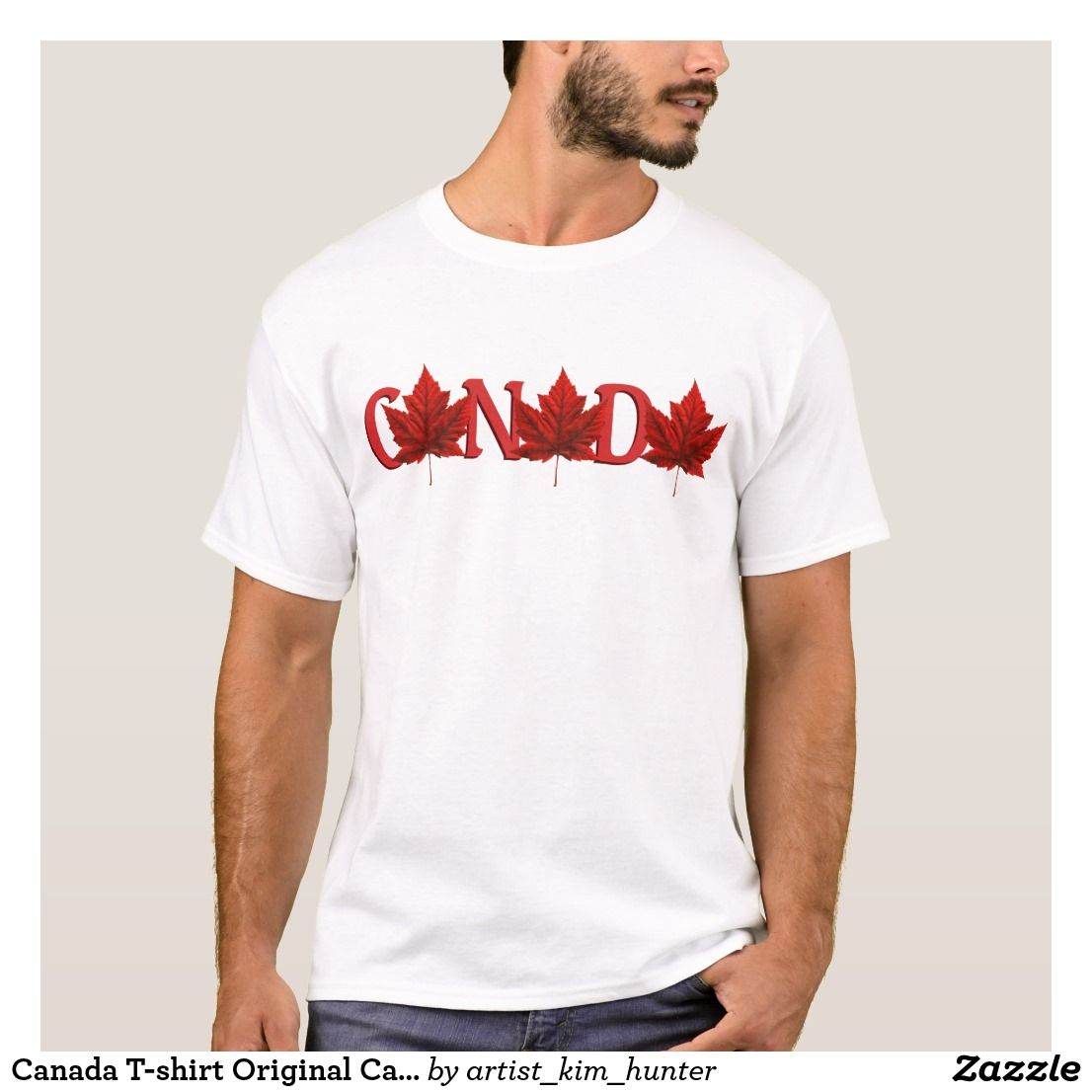 38ab6f566 Canada T-shirt Original Canada Souvenir Shirt   Zazzle.com in 2019 ...