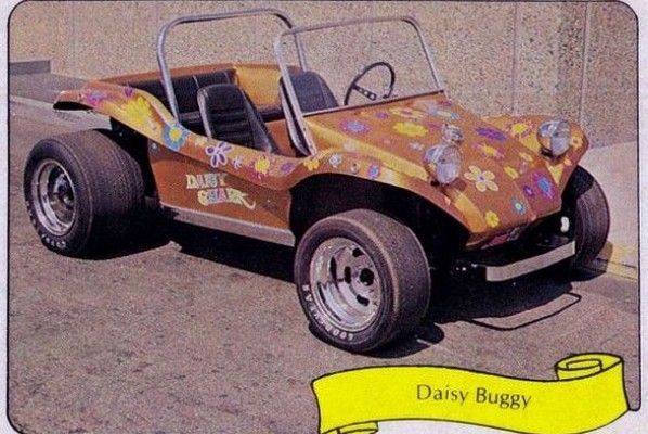 1970's Dune Buggy with Flower Power Stickers