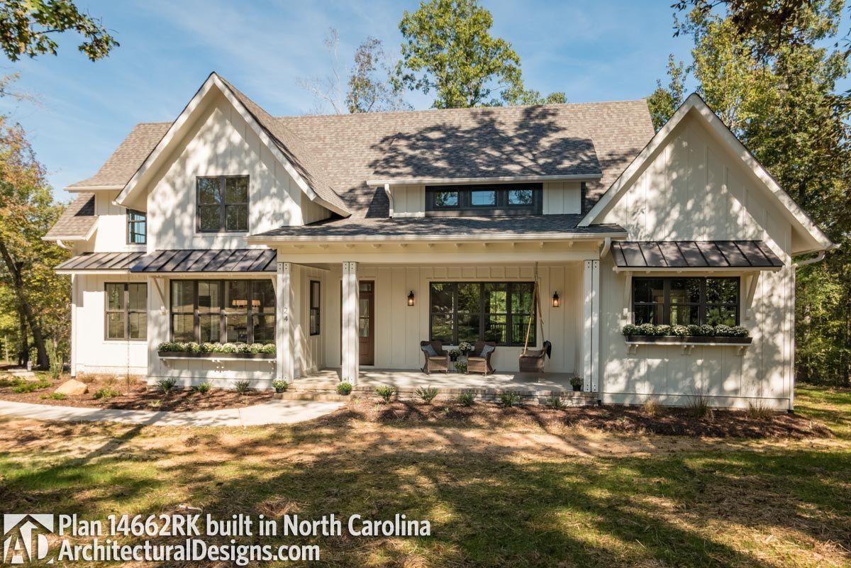modern farmhouse plan 14662rk comes to life in north carolina