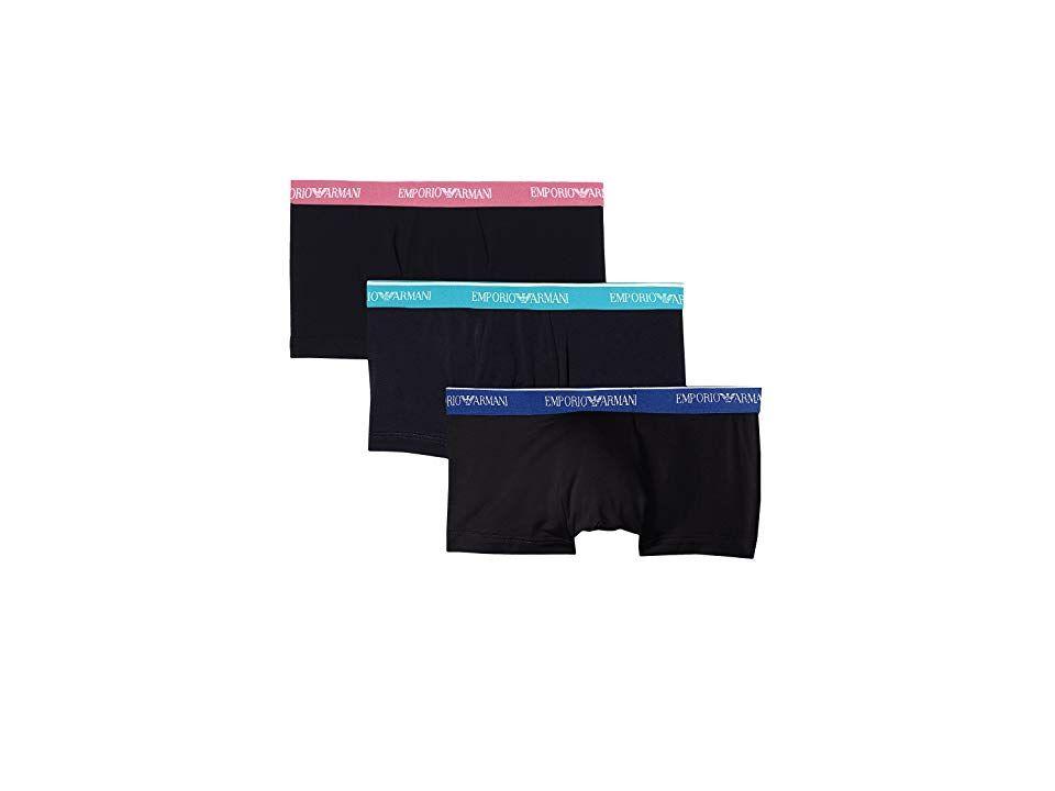 5487e1722e7d Emporio Armani Core Logoband 3-Pack Trunk (Black/Black/Black) Men's ...